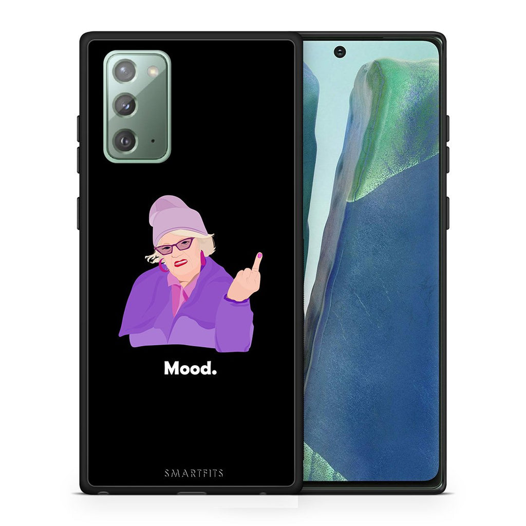 Θήκη Samsung Note 20 Grandma Mood Black από τη Smartfits με σχέδιο στο πίσω μέρος και μαύρο περίβλημα | Samsung Note 20 Grandma Mood Black case with colorful back and black bezels