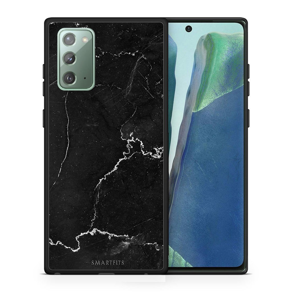 1 - Samsung Note 20  black marble case, cover, bumper