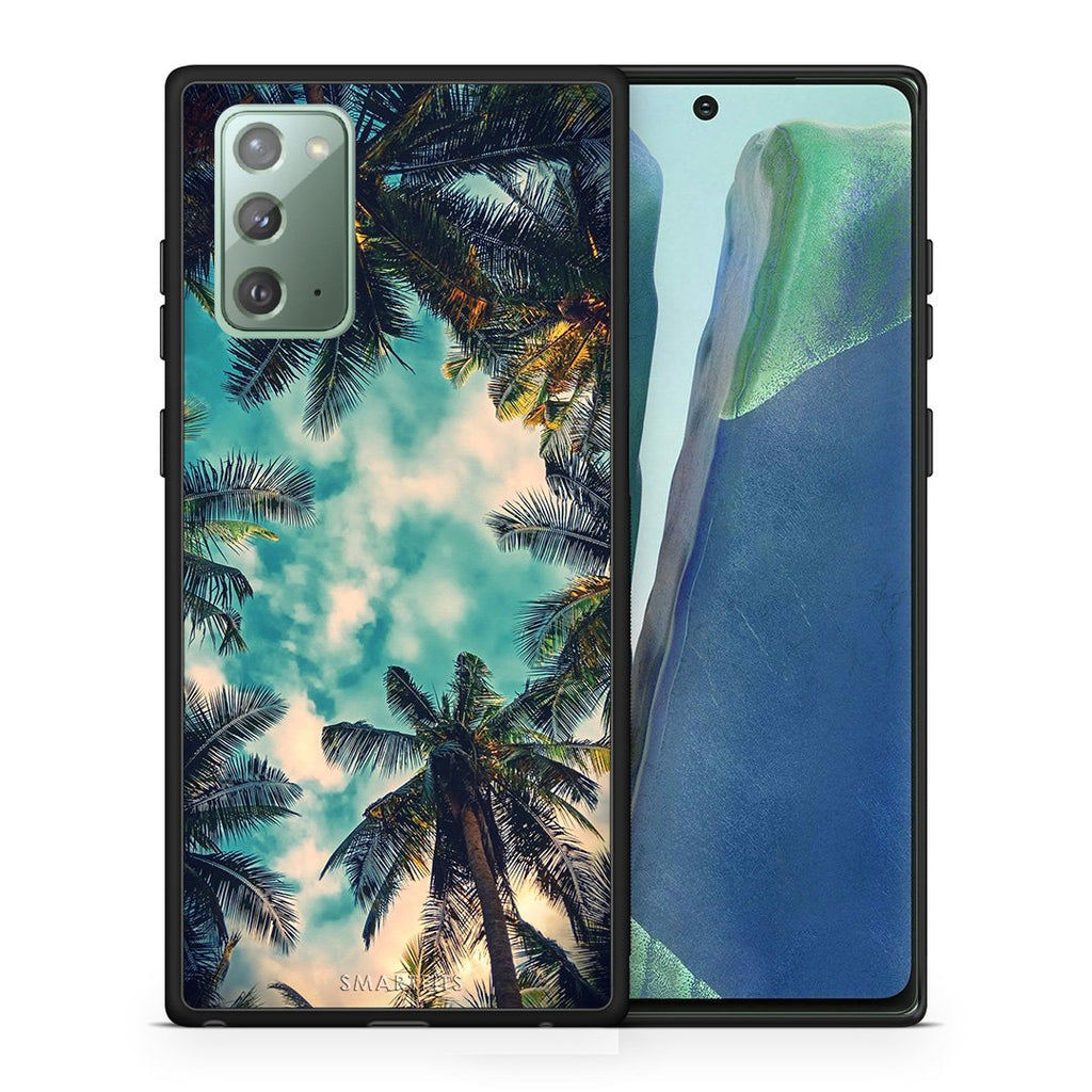 Θήκη Samsung Note 20 Bel Air Tropic από τη Smartfits με σχέδιο στο πίσω μέρος και μαύρο περίβλημα | Samsung Note 20 Bel Air Tropic case with colorful back and black bezels