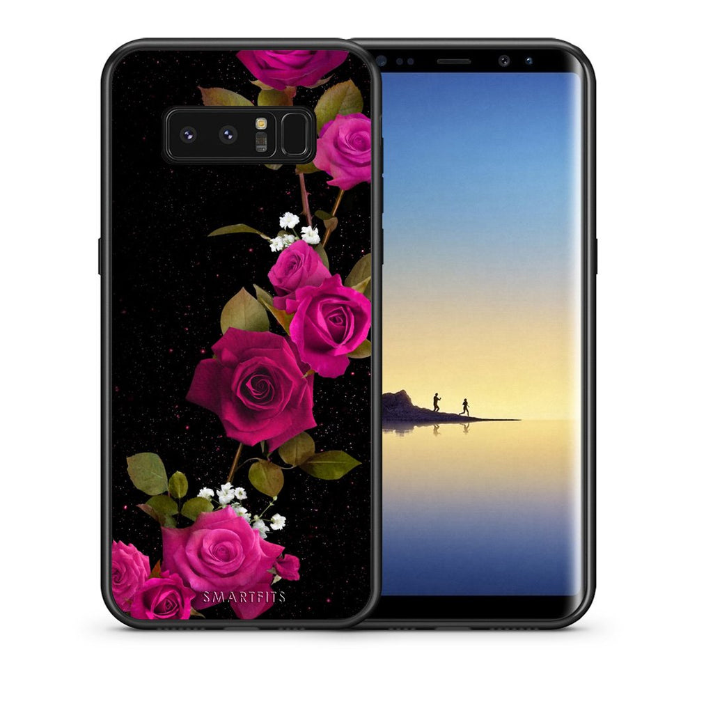 4 - samsung note 8 Red Roses Flower case, cover, bumper