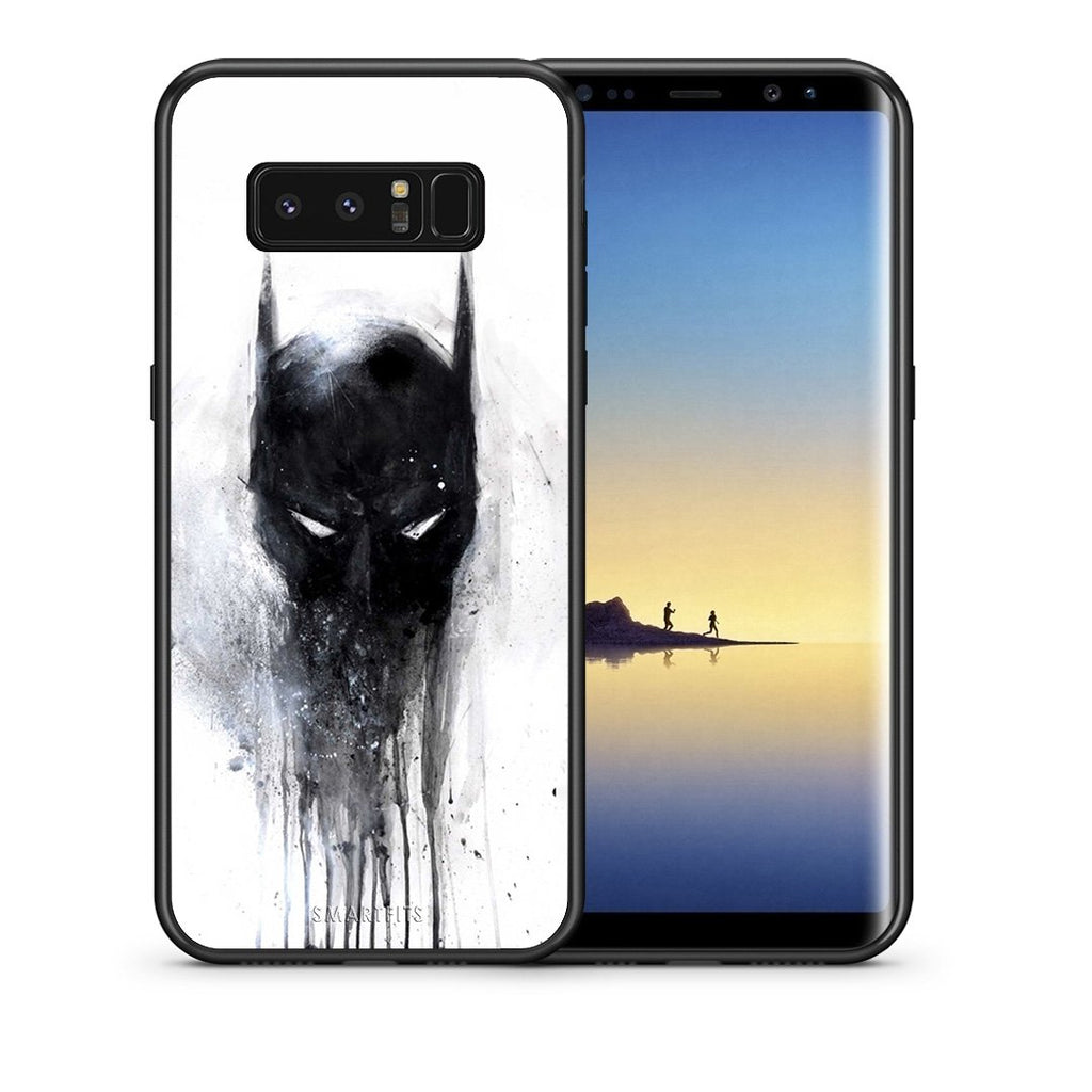 Θήκη Samsung Note 8 Paint Bat Hero από τη Smartfits με σχέδιο στο πίσω μέρος και μαύρο περίβλημα | Samsung Note 8 Paint Bat Hero case with colorful back and black bezels