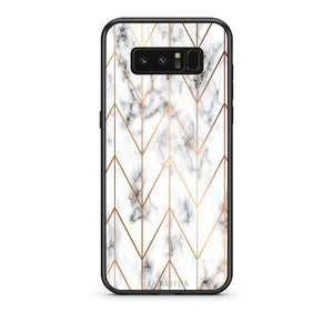 44 - samsung galaxy note 8 Gold Geometric Marble case, cover, bumper