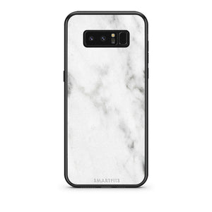2 - samsung galaxy note 8 White marble case, cover, bumper