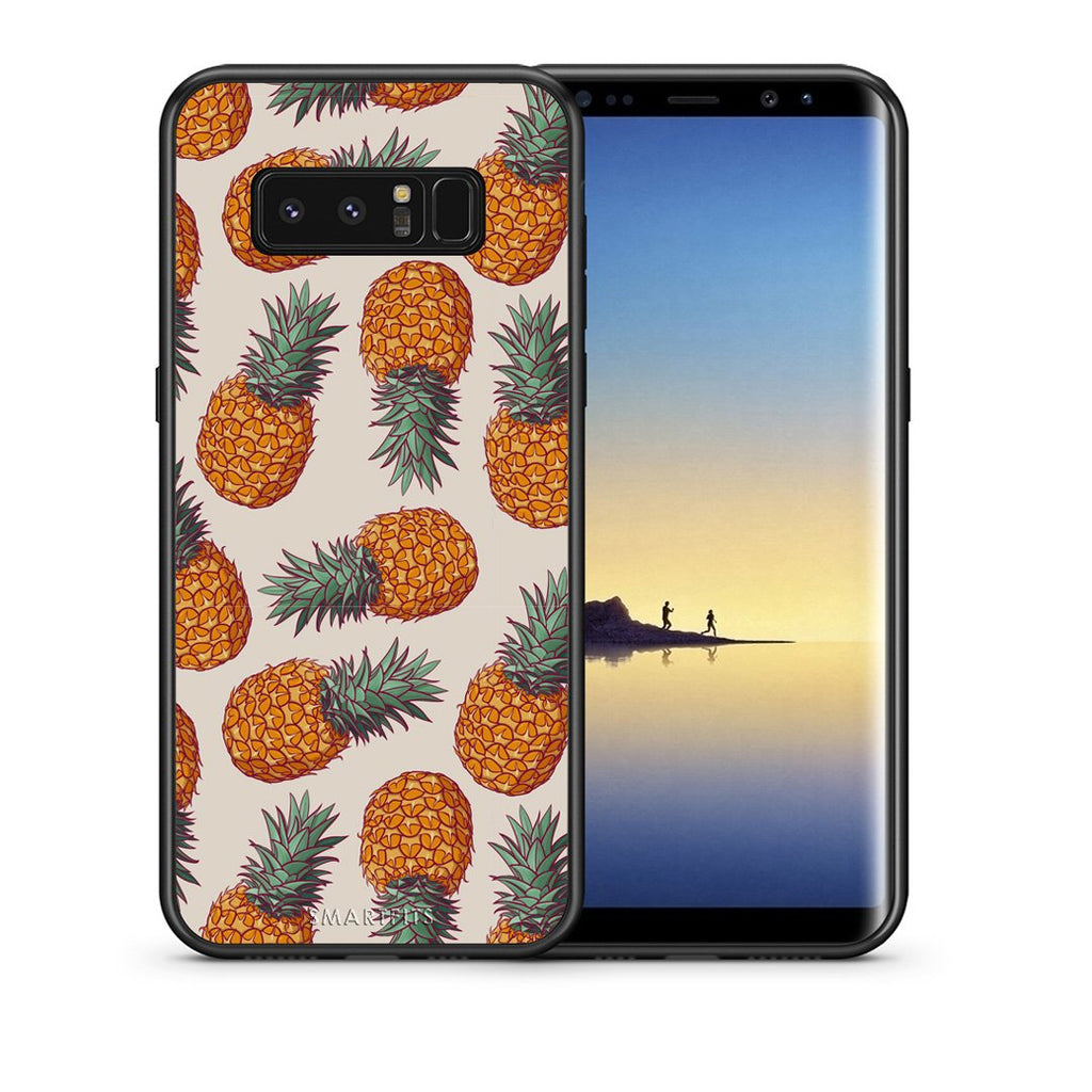 99 - samsung galaxy note 8 Summer Real Pineapples case, cover, bumper