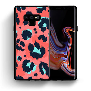 Θήκη Samsung Note 9 Pink Leopard Animal από τη Smartfits με σχέδιο στο πίσω μέρος και μαύρο περίβλημα | Samsung Note 9 Pink Leopard Animal case with colorful back and black bezels