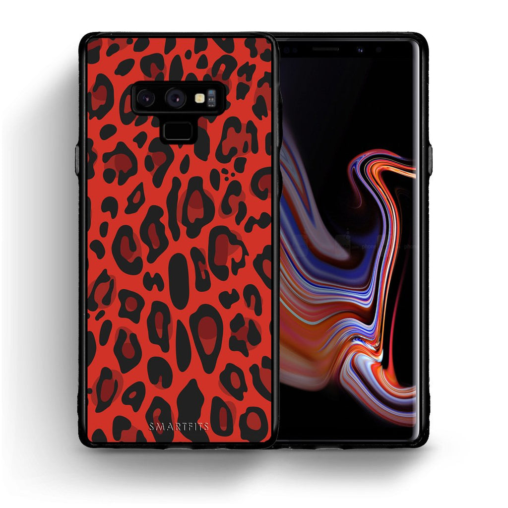 4 - samsung galaxy note 9 Red Leopard Animal case, cover, bumper