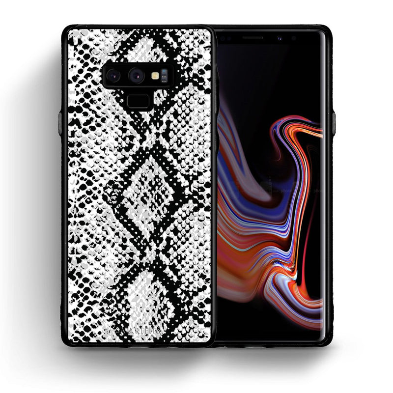 24 - samsung galaxy note 9 White Snake Animal case, cover, bumper