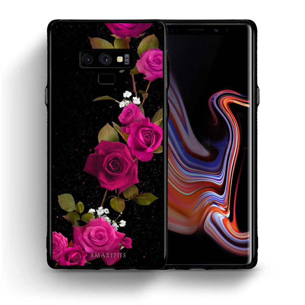 4 - samsung note 9 Red Roses Flower case, cover, bumper