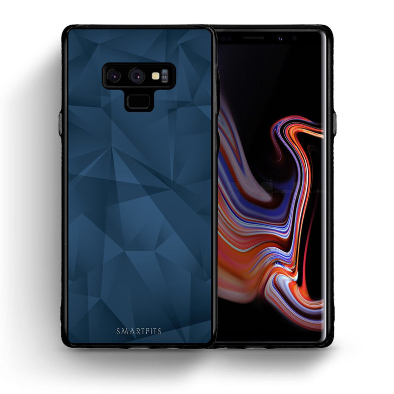39 - samsung galaxy note 9 Blue Abstract Geometric case, cover, bumper