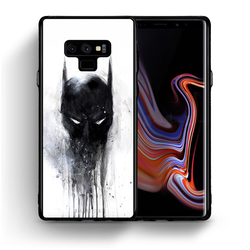 4 - samsung note 9 Paint Bat Hero case, cover, bumper