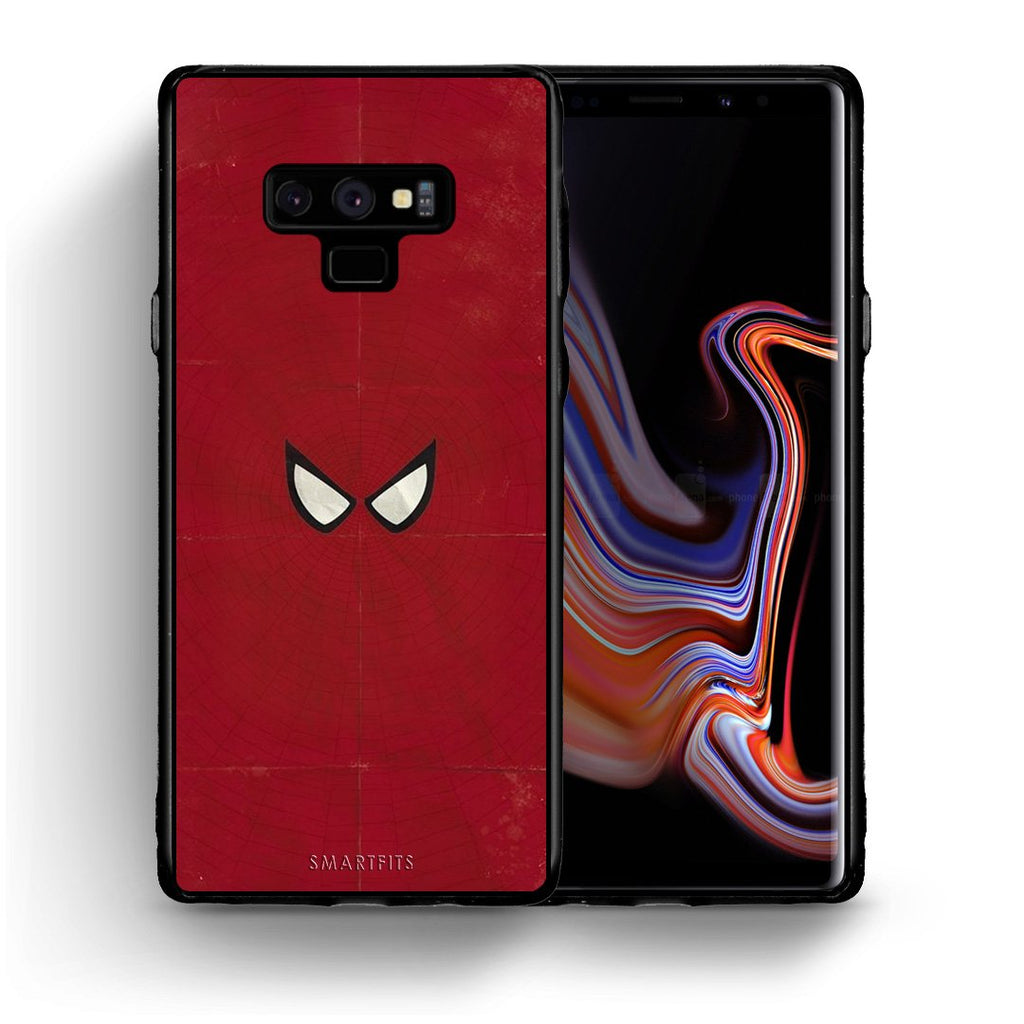 4 - samsung note 9 Spider Eyes Hero case, cover, bumper