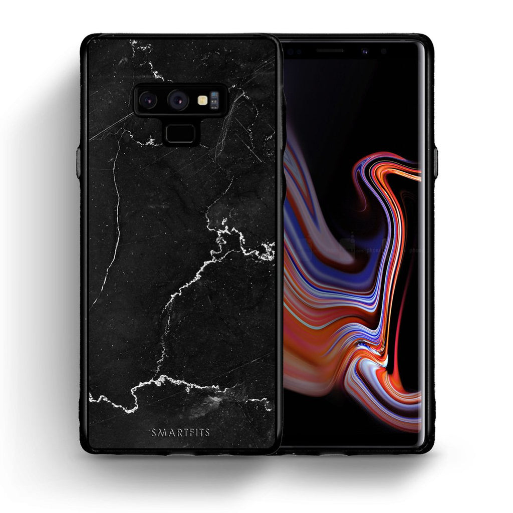 1 - samsung galaxy note 9 black marble case, cover, bumper