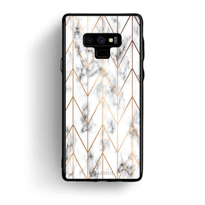 44 - samsung galaxy note 9 Gold Geometric Marble case, cover, bumper