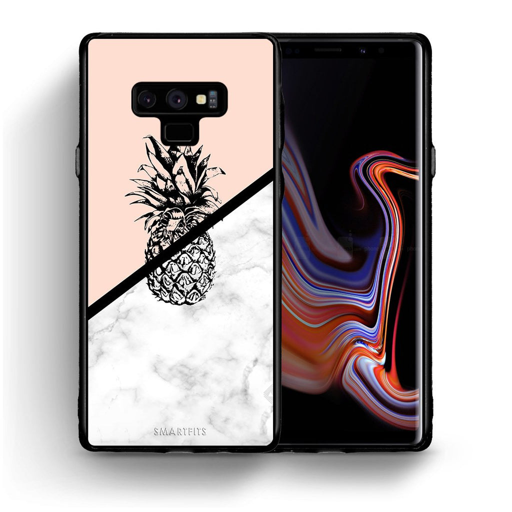 4 - samsung note 9 Pineapple Marble case, cover, bumper