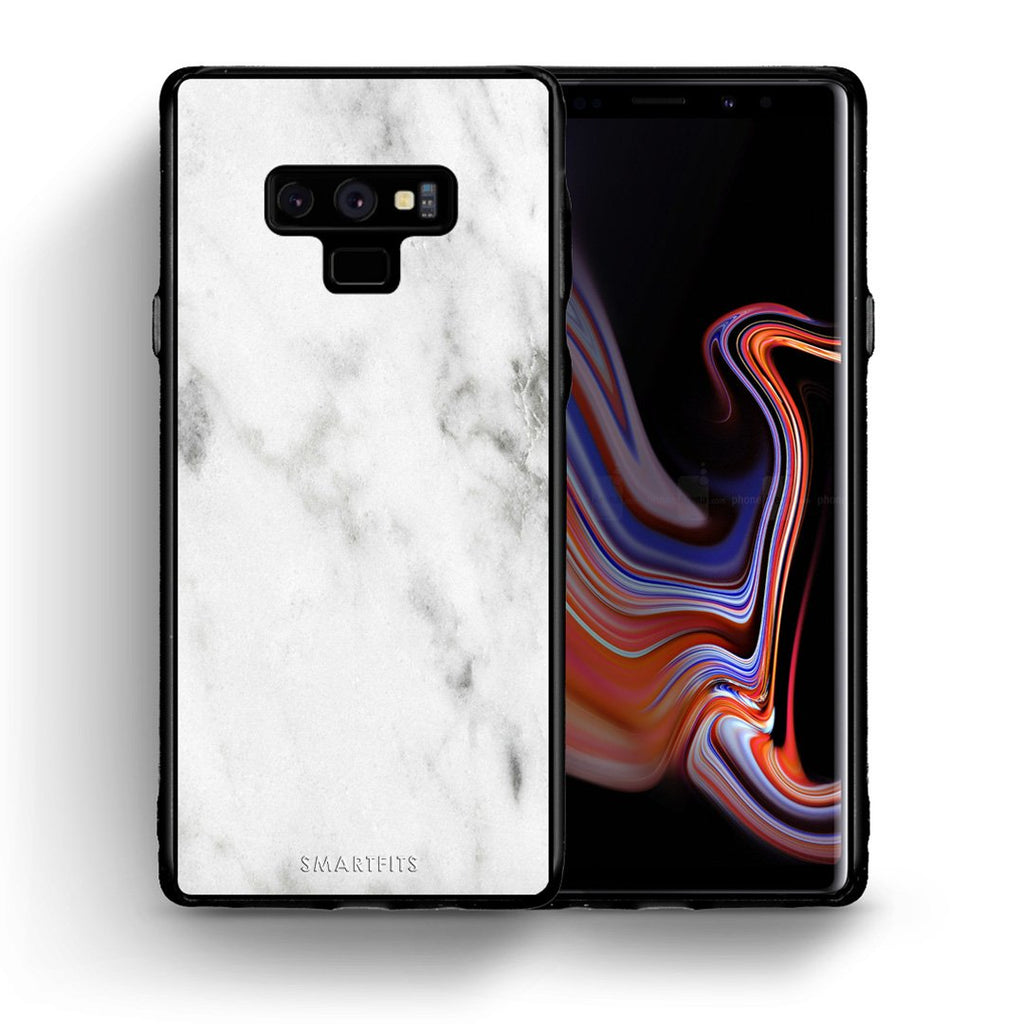 2 - samsung galaxy note 9 White marble case, cover, bumper