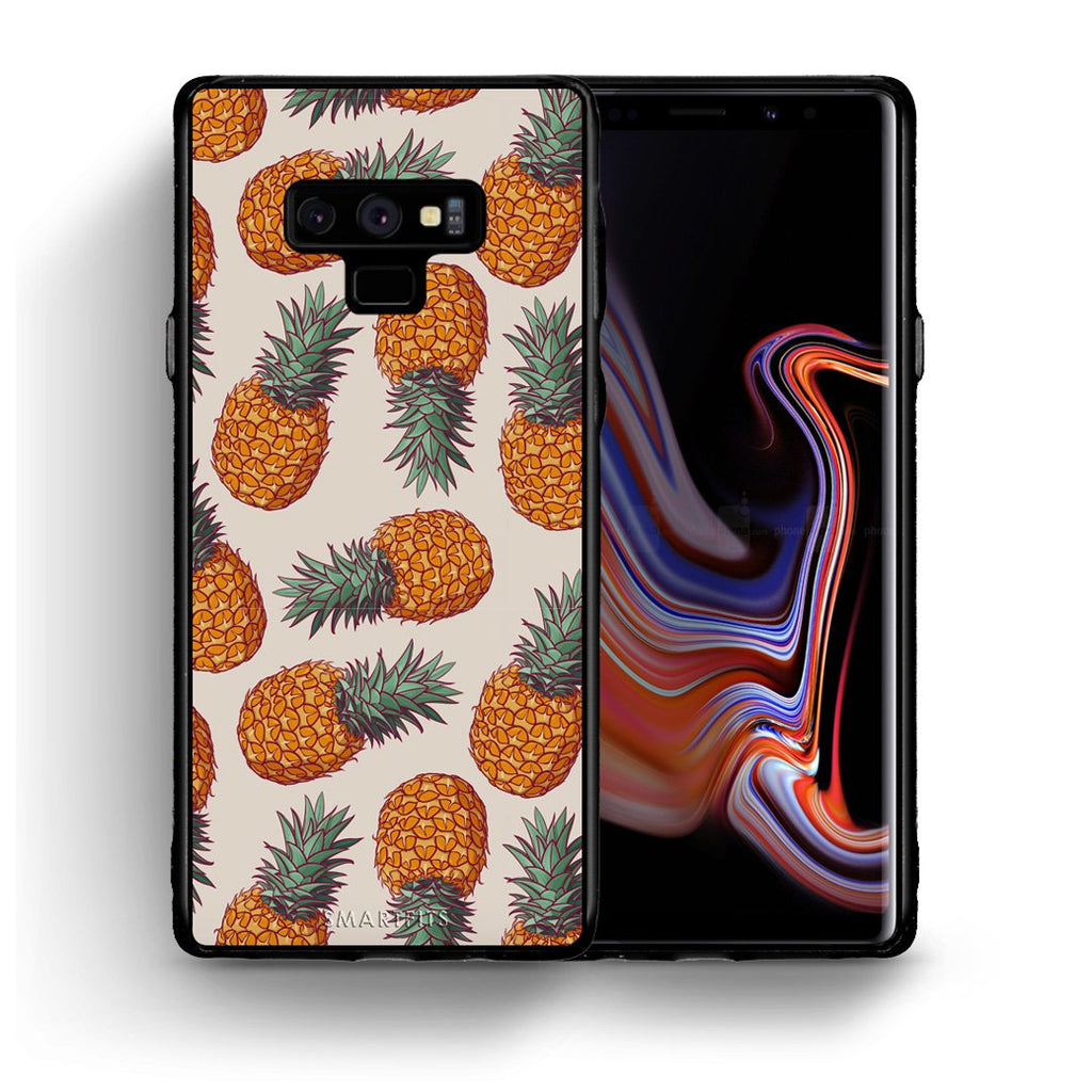 99 - samsung galaxy note 9 Summer Real Pineapples case, cover, bumper