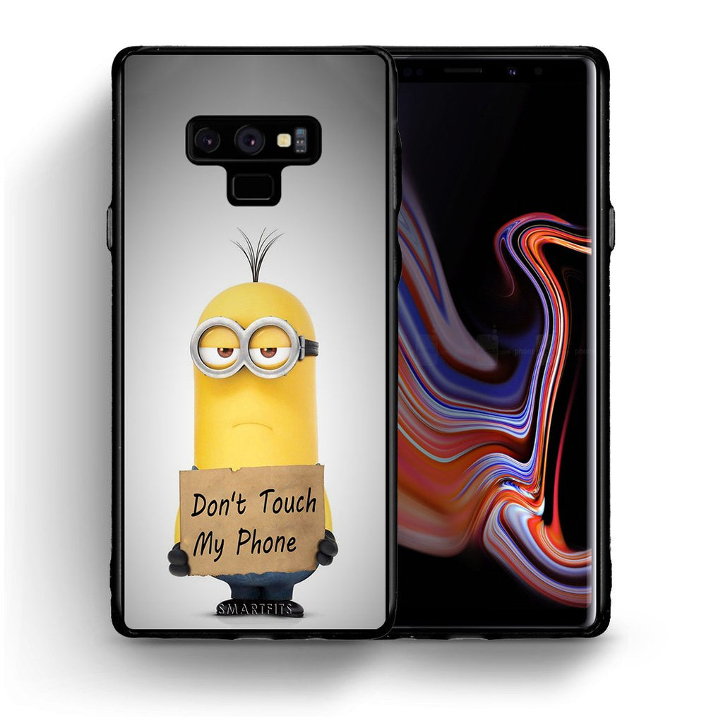 4 - samsung note 9 Minion Text case, cover, bumper