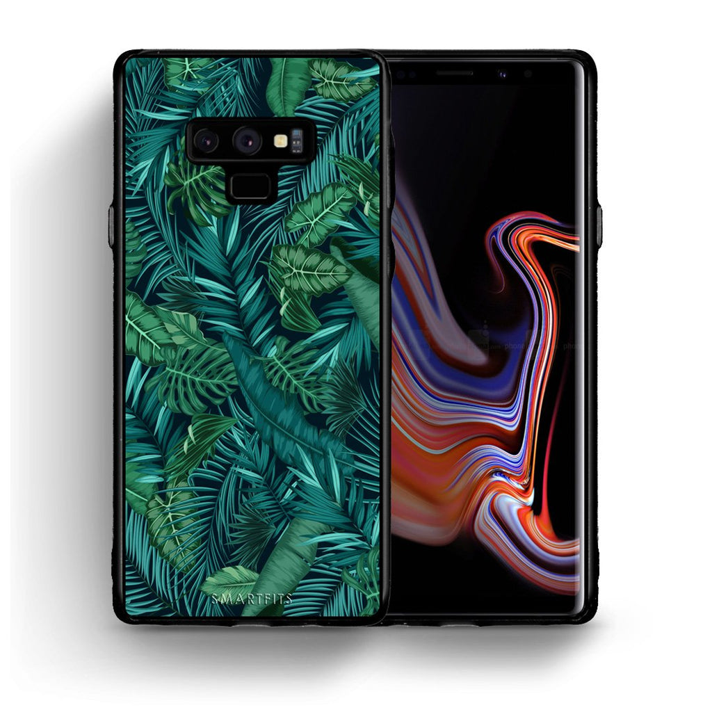 99 - samsung galaxy note 9 Tropic Leaves case, cover, bumper
