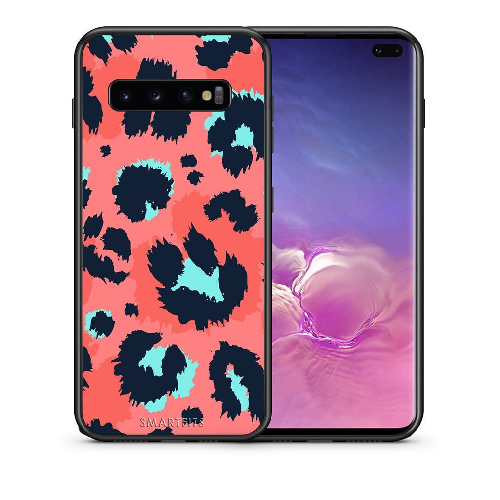 22 - samsung galaxy s10 plus Pink Leopard Animal case, cover, bumper