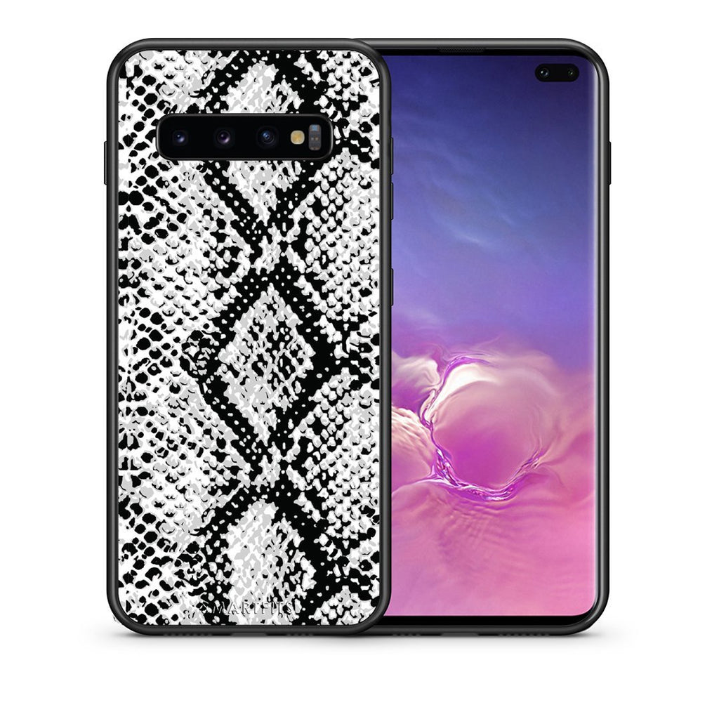 24 - samsung galaxy s10 plus White Snake Animal case, cover, bumper