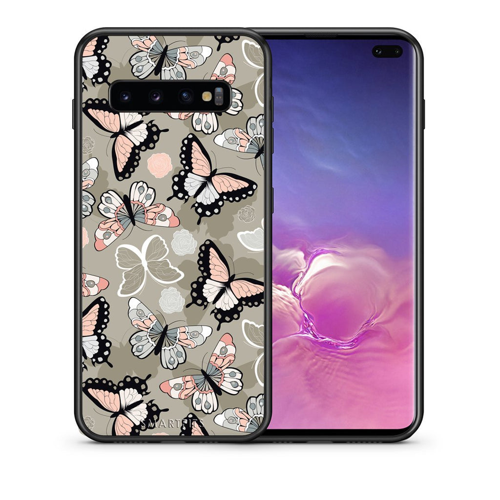 135 - samsung galaxy s10 plus Butterflies Boho case, cover, bumper