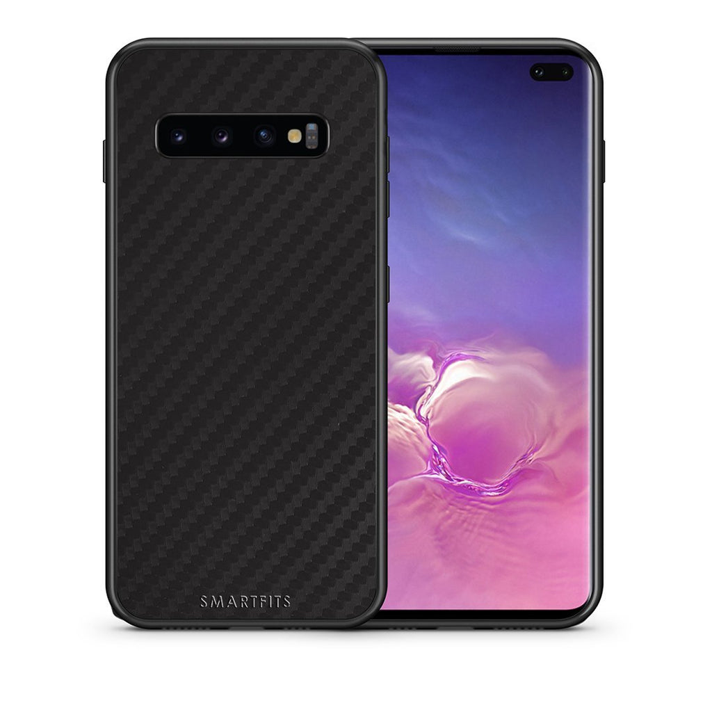 0 - samsung galaxy s10 plus Black Carbon case, cover, bumper