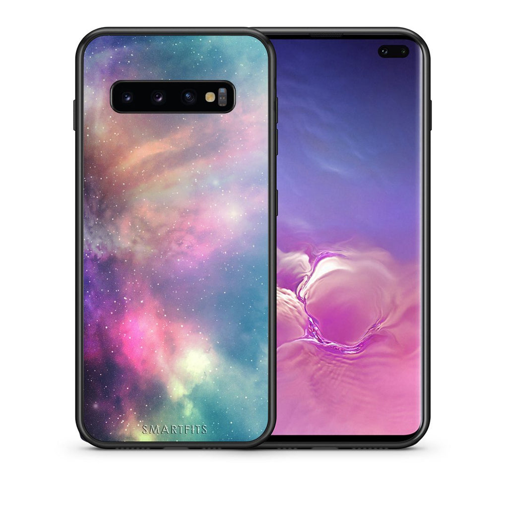 105 - samsung galaxy s10 plus Rainbow Galaxy case, cover, bumper