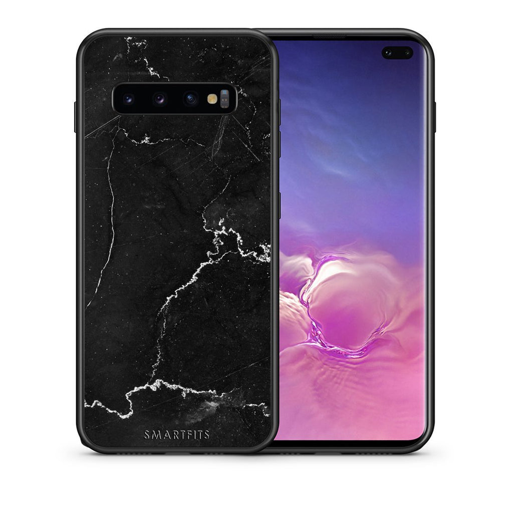 1 - samsung galaxy s10 plus black marble case, cover, bumper