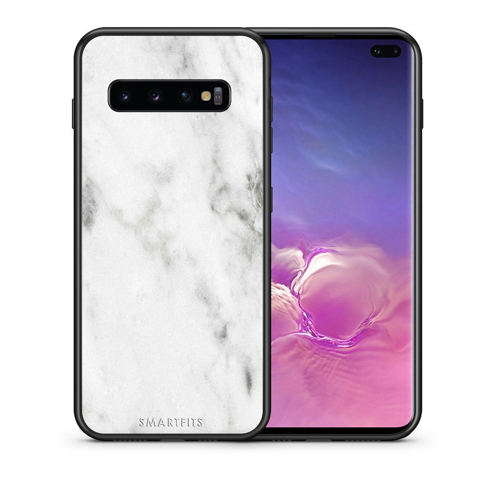 2 - samsung galaxy s10 plus White marble case, cover, bumper