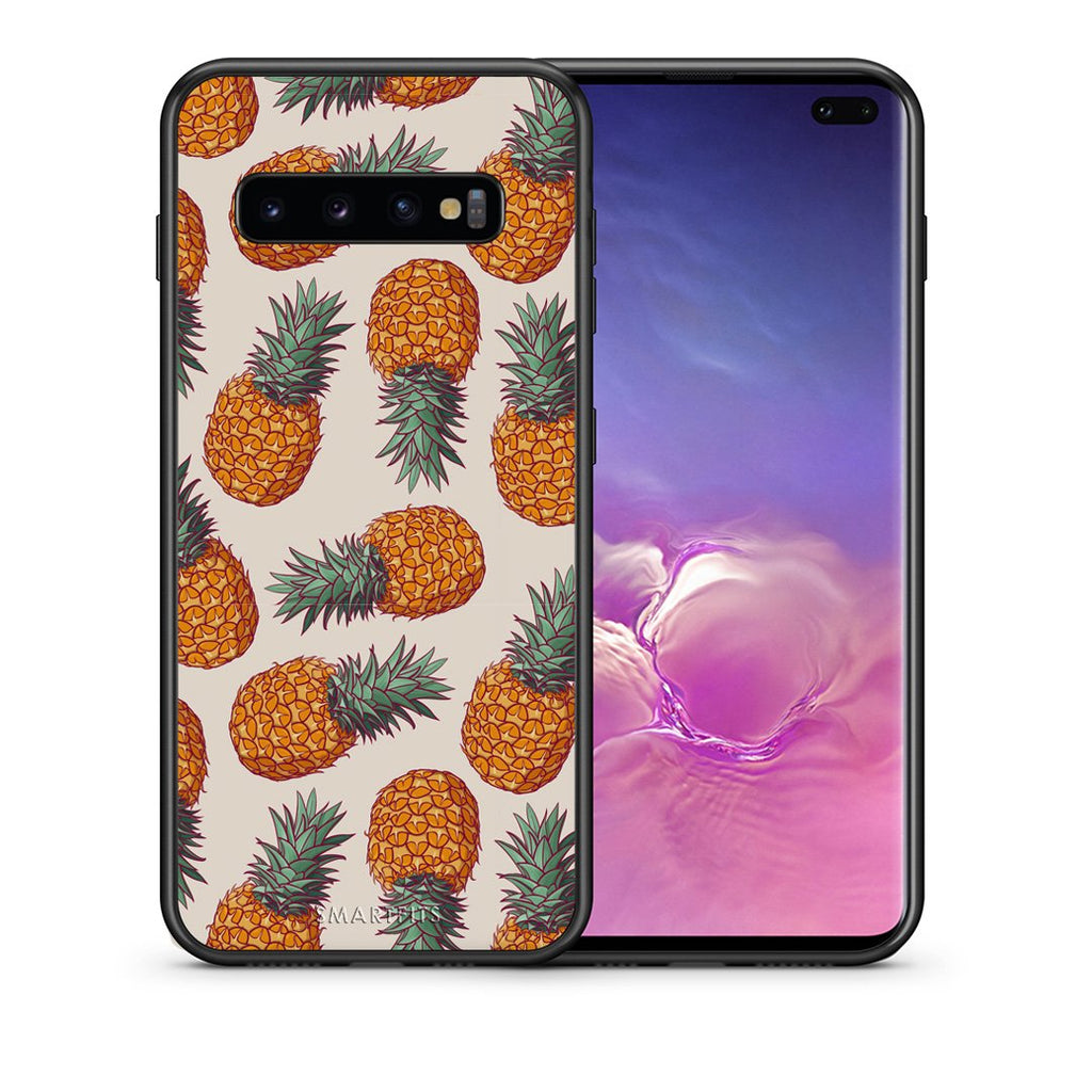 99 - samsung galaxy s10 plus Summer Real Pineapples case, cover, bumper