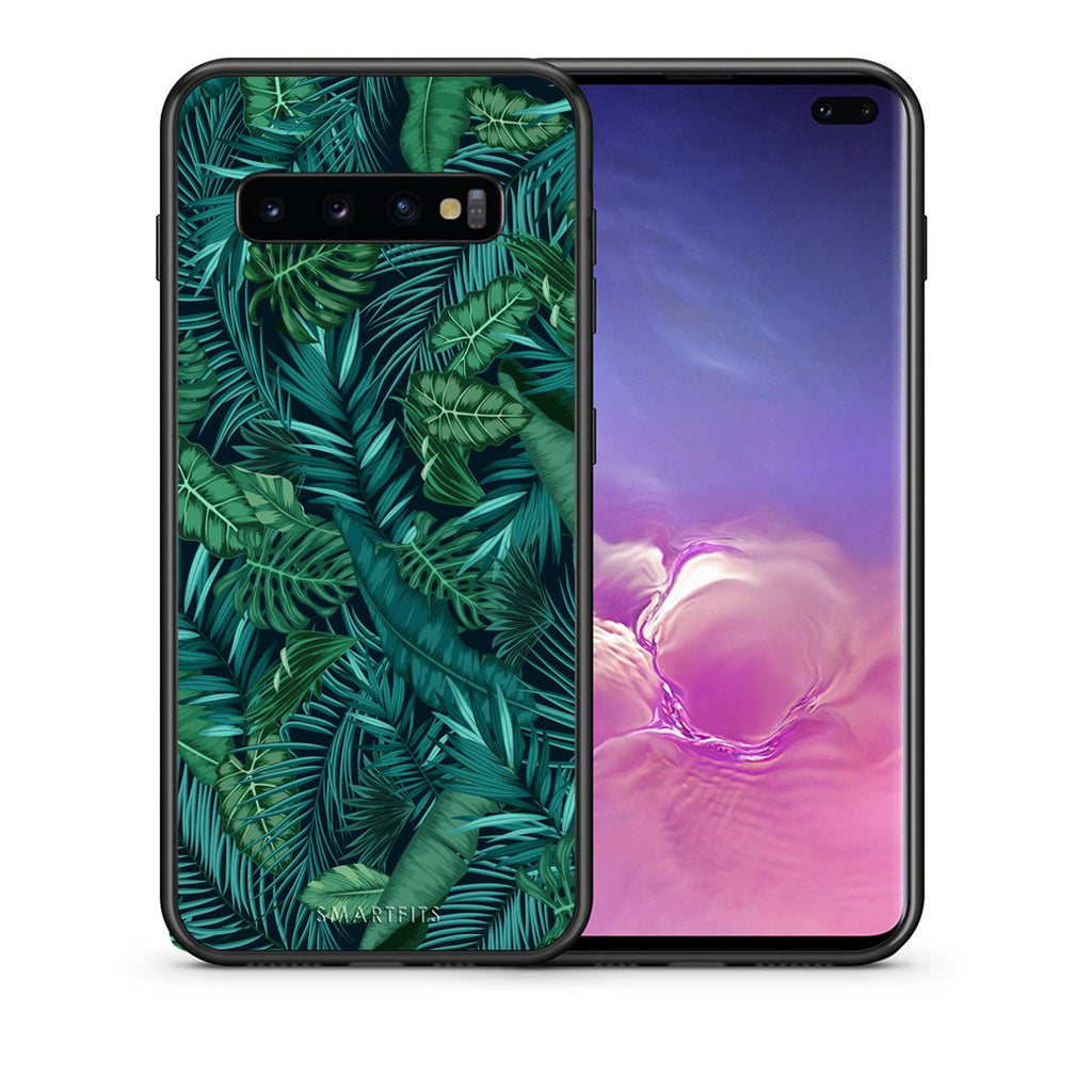 99 - samsung galaxy s10 plus Tropic Leaves case, cover, bumper