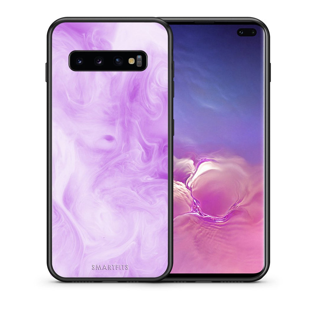 99 - samsung galaxy s10 plus Watercolor Lavender case, cover, bumper