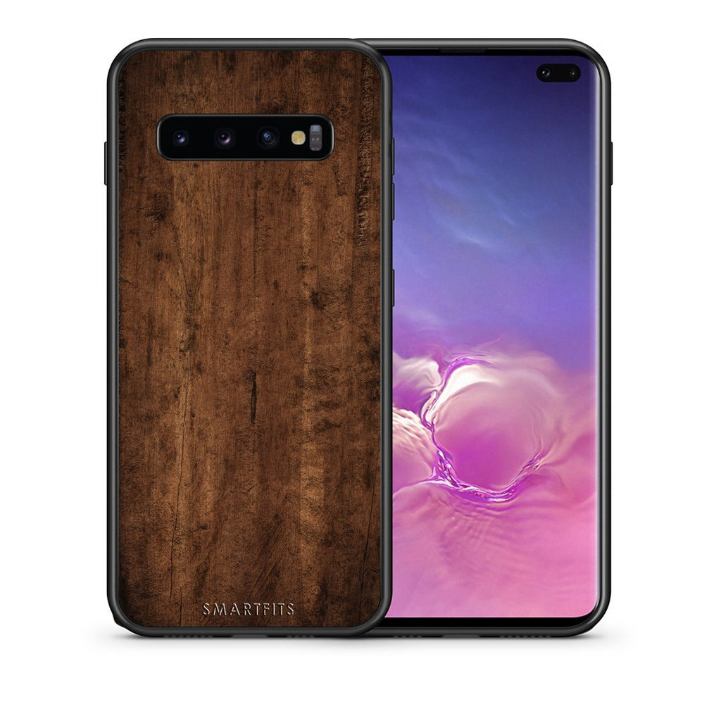 84 - samsung galaxy s10 plus Dark Wood case, cover, bumper