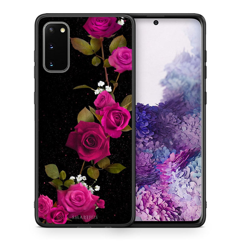 4 - Samsung S20 Red Roses Flower case, cover, bumper