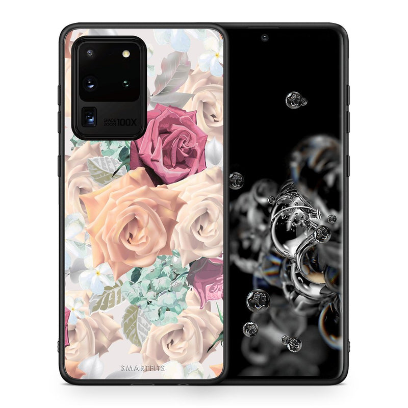 Θήκη Samsung S20 Ultra Bouquet Floral από τη Smartfits με σχέδιο στο πίσω μέρος και μαύρο περίβλημα | Samsung S20 Ultra Bouquet Floral case with colorful back and black bezels