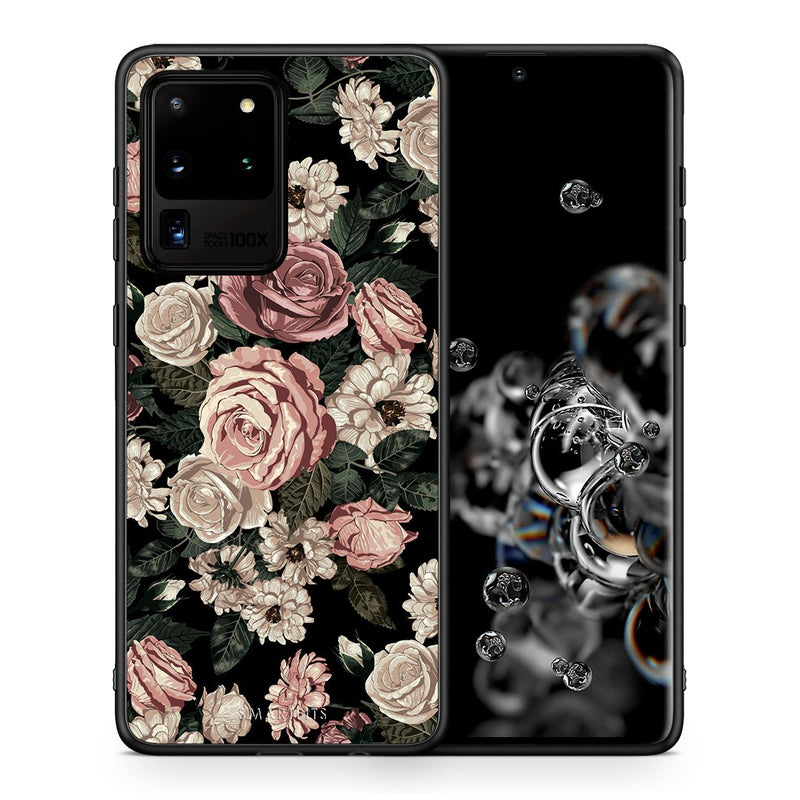 Θήκη Samsung S20 Ultra Wild Roses Flower από τη Smartfits με σχέδιο στο πίσω μέρος και μαύρο περίβλημα | Samsung S20 Ultra Wild Roses Flower case with colorful back and black bezels