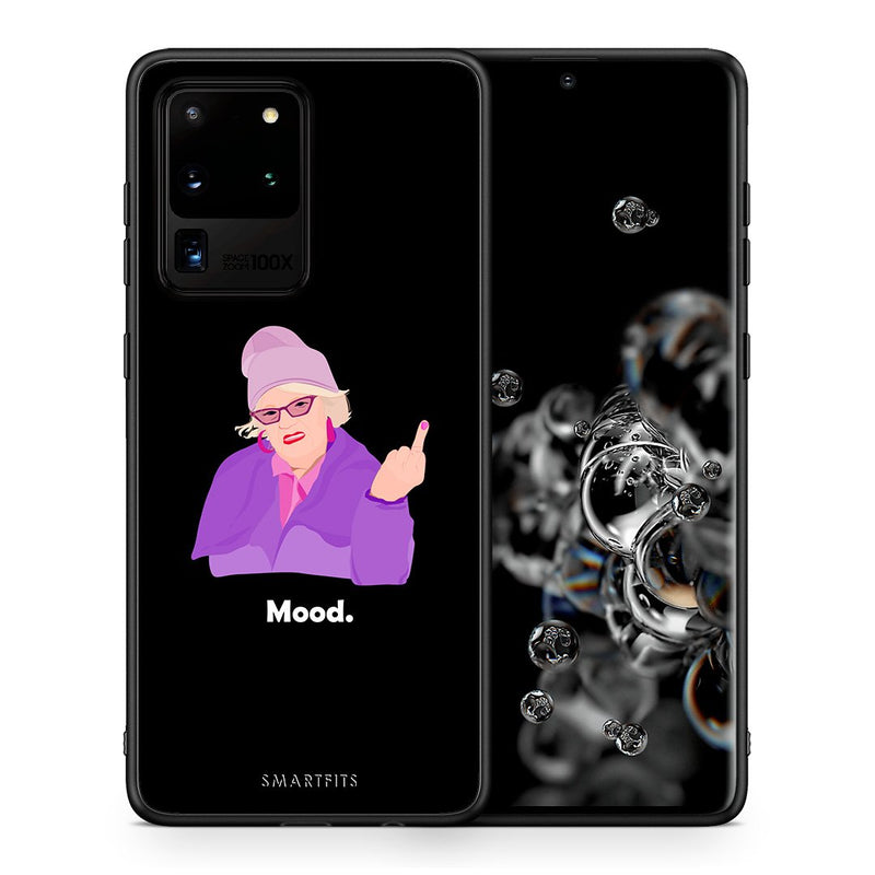 Θήκη Samsung S20 Ultra Grandma Mood Black από τη Smartfits με σχέδιο στο πίσω μέρος και μαύρο περίβλημα | Samsung S20 Ultra Grandma Mood Black case with colorful back and black bezels