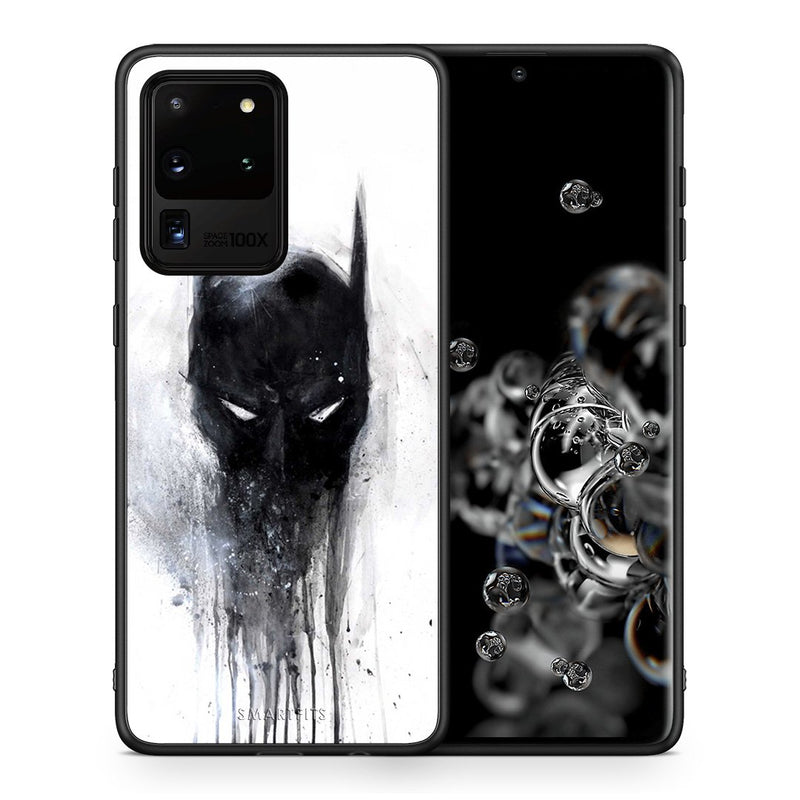 Θήκη Samsung S20 Ultra Paint Bat Hero από τη Smartfits με σχέδιο στο πίσω μέρος και μαύρο περίβλημα | Samsung S20 Ultra Paint Bat Hero case with colorful back and black bezels