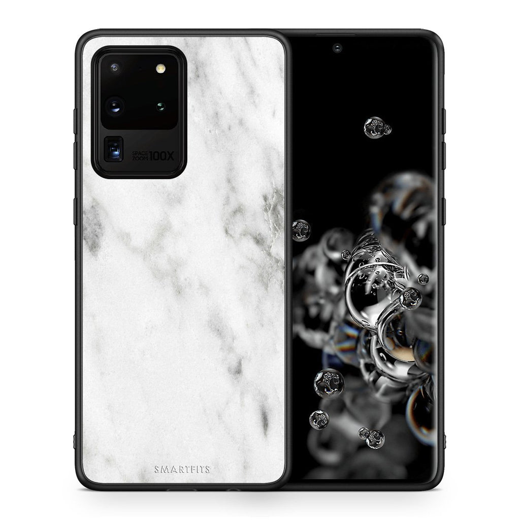 2 - Samsung S20 Ultra White marble case, cover, bumper