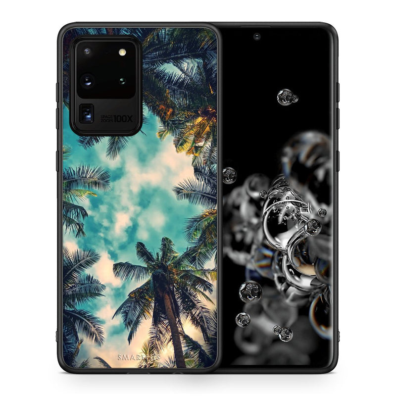 Θήκη Samsung S20 Ultra Bel Air Tropic από τη Smartfits με σχέδιο στο πίσω μέρος και μαύρο περίβλημα | Samsung S20 Ultra Bel Air Tropic case with colorful back and black bezels