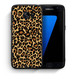 Θήκη Samsung S7 Edge Leopard Animal από τη Smartfits με σχέδιο στο πίσω μέρος και μαύρο περίβλημα | Samsung S7 Edge Leopard Animal case with colorful back and black bezels