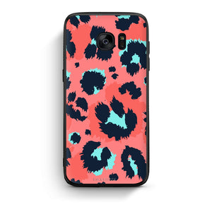 22 - samsung galaxy s7 edge Pink Leopard Animal case, cover, bumper