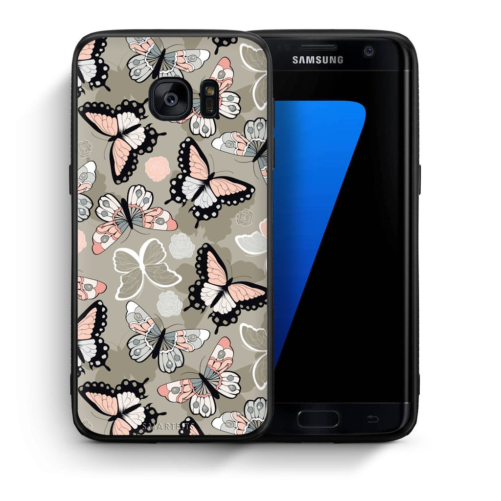 135 - samsung galaxy s7 edge Butterflies Boho case, cover, bumper
