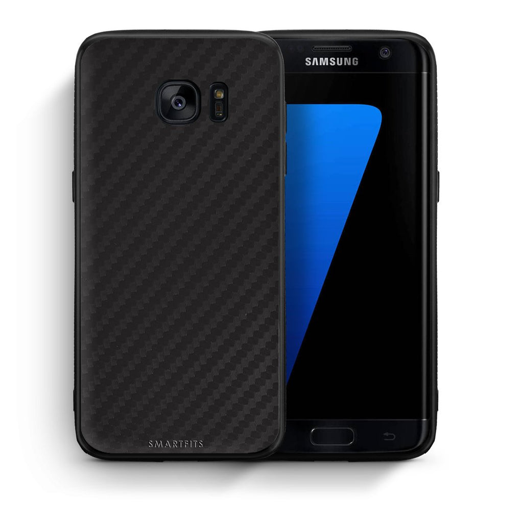 0 - samsung galaxy s7 edge Black Carbon case, cover, bumper