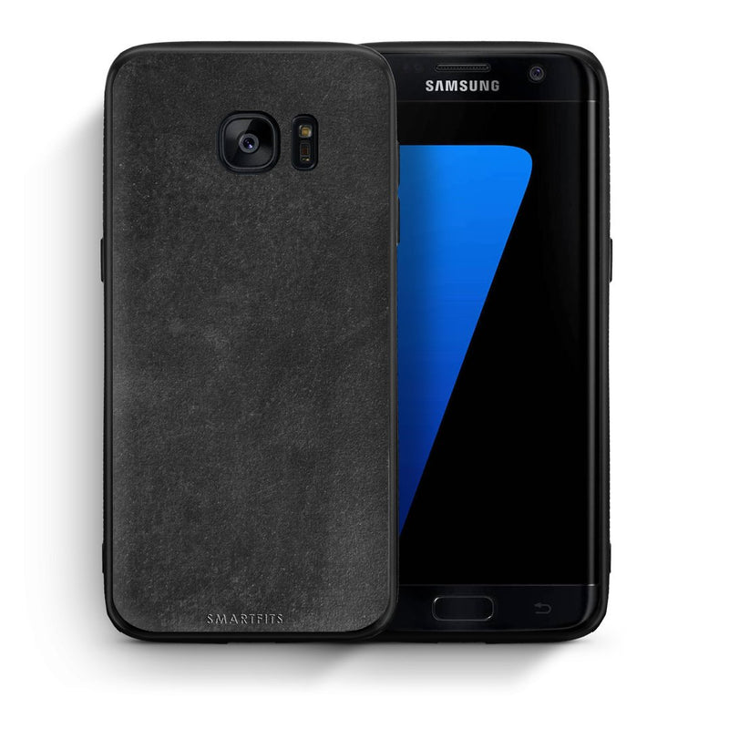 87 - samsung galaxy s7 edge Black Slate Color case, cover, bumper