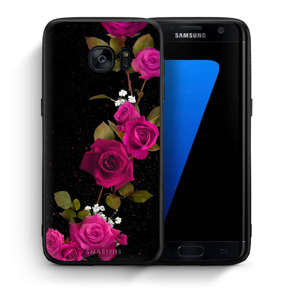 4 - samsung s7 edge Red Roses Flower case, cover, bumper