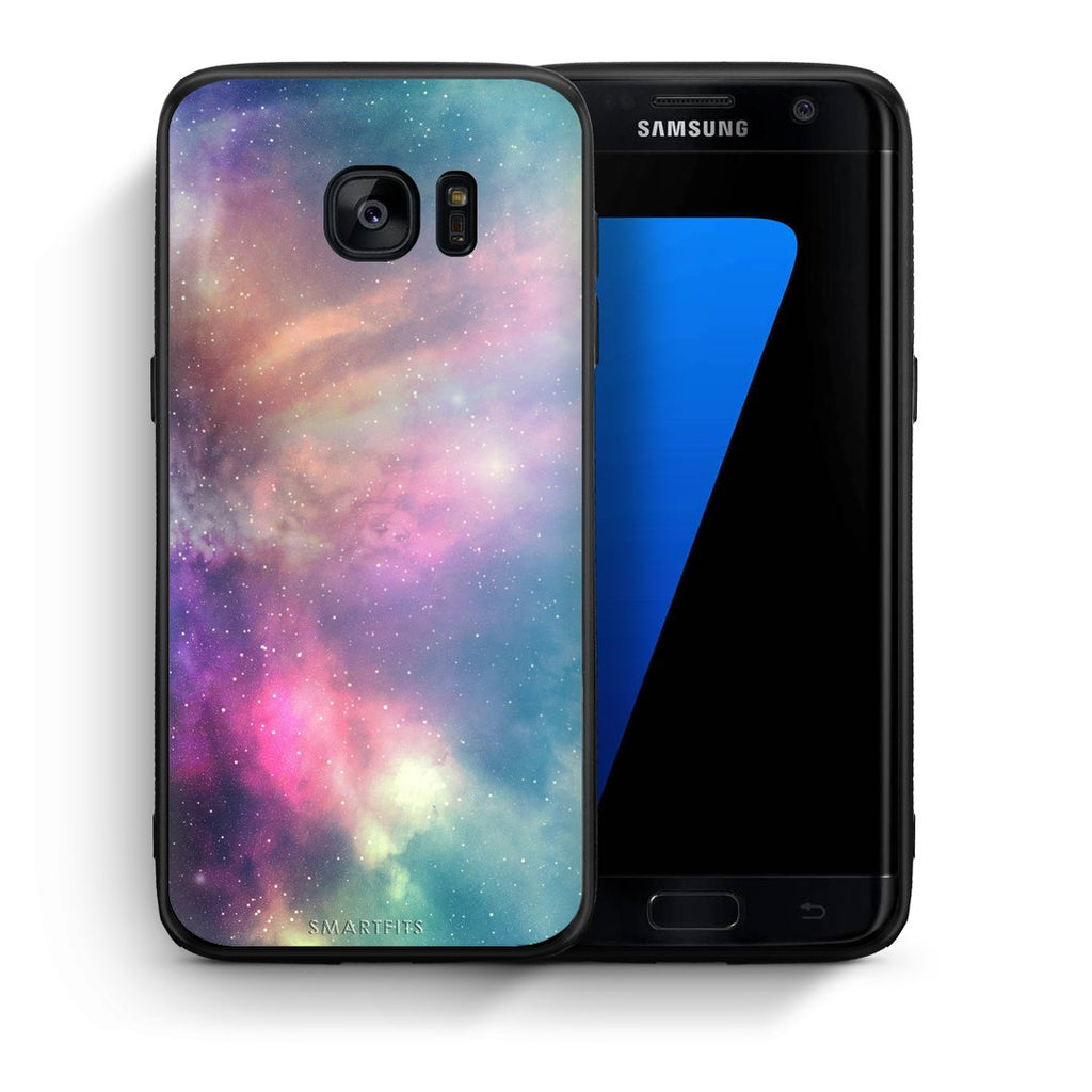 105 - samsung galaxy s7 edge Rainbow Galaxy case, cover, bumper