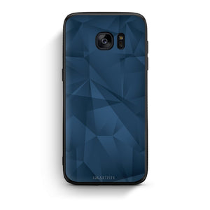 39 - samsung galaxy s7 edge Blue Abstract Geometric case, cover, bumper