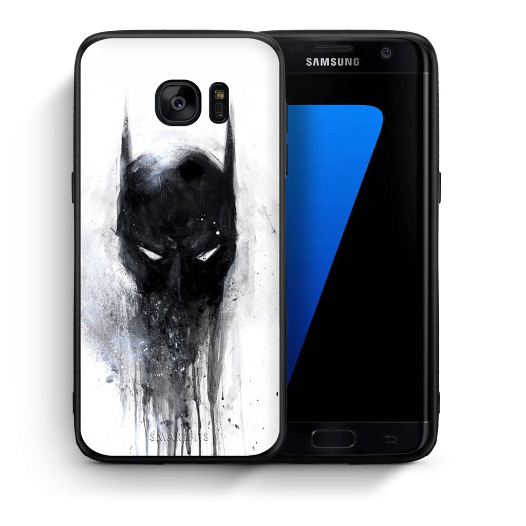 4 - samsung s7 edge Paint Bat Hero case, cover, bumper