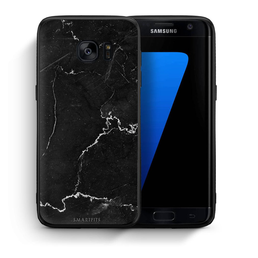1 - samsung galaxy s7 edge black marble case, cover, bumper